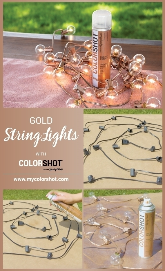 COLORSHOT Lucky Penny Spray Painted String Lights