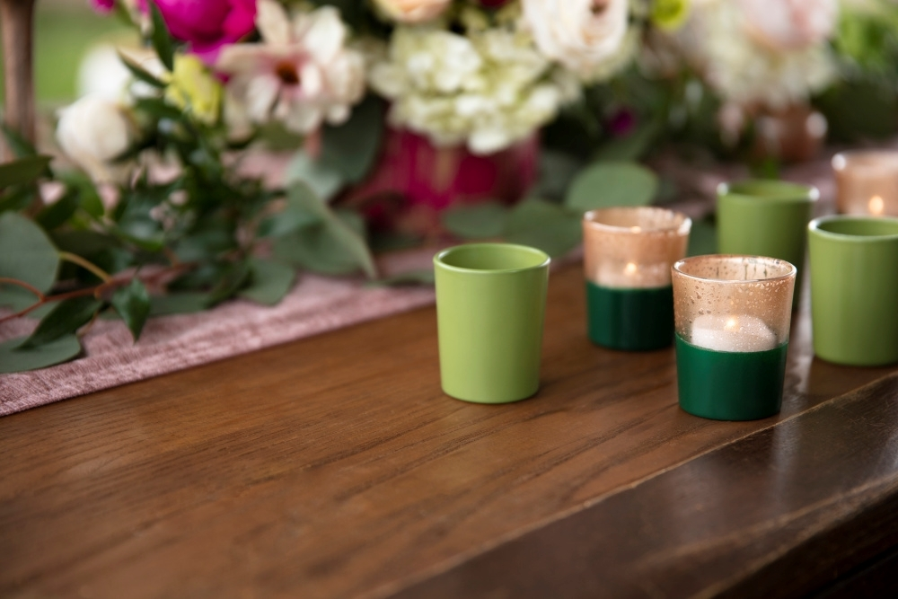 COLORSHOT Painted Tea Light Holders