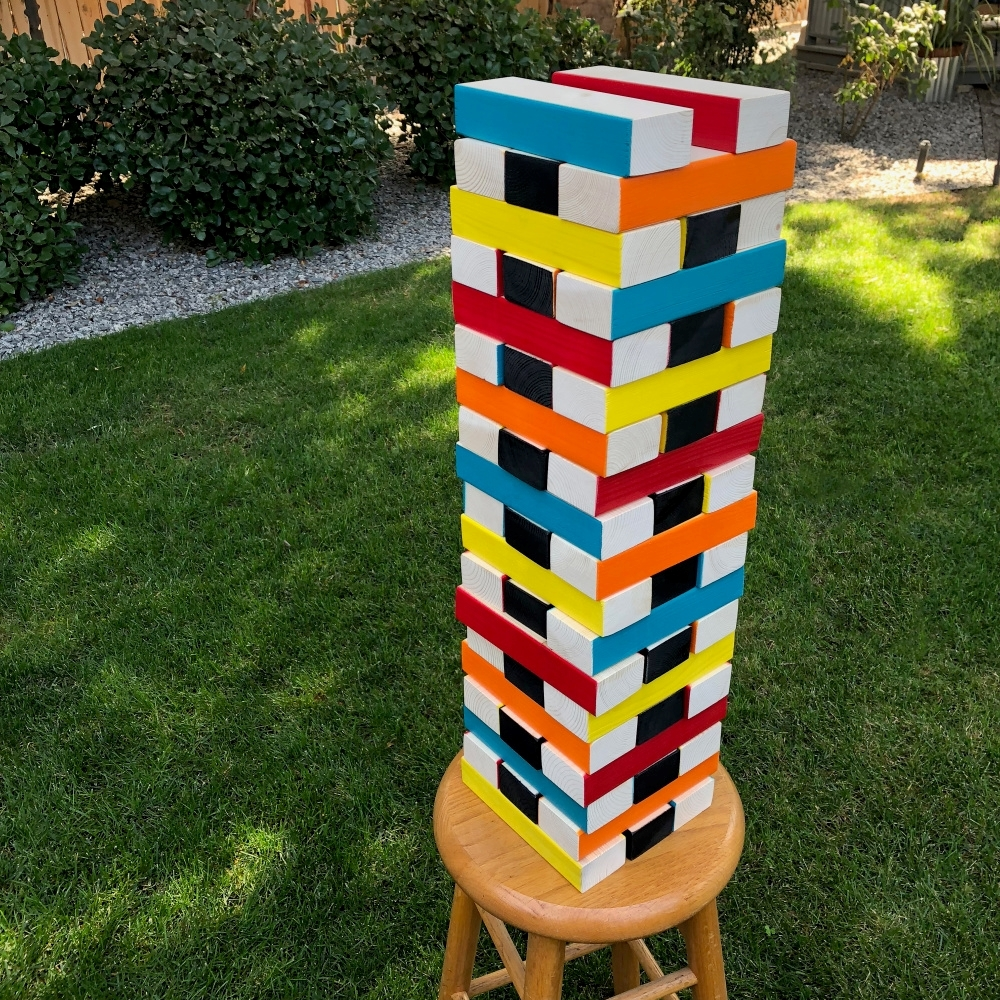 COLORSHOT Giant Jenga Inspired Yard Game