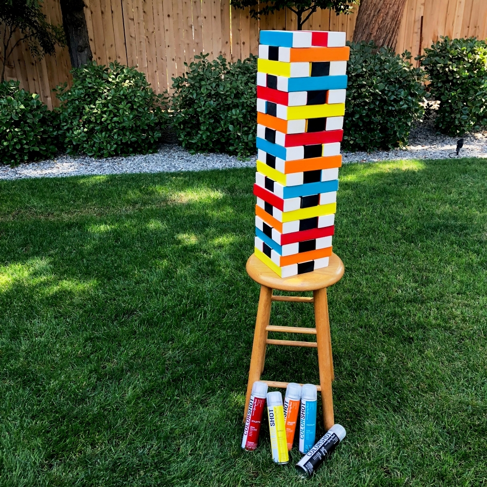 COLORSHOT Giant Jenga-Inspired Game