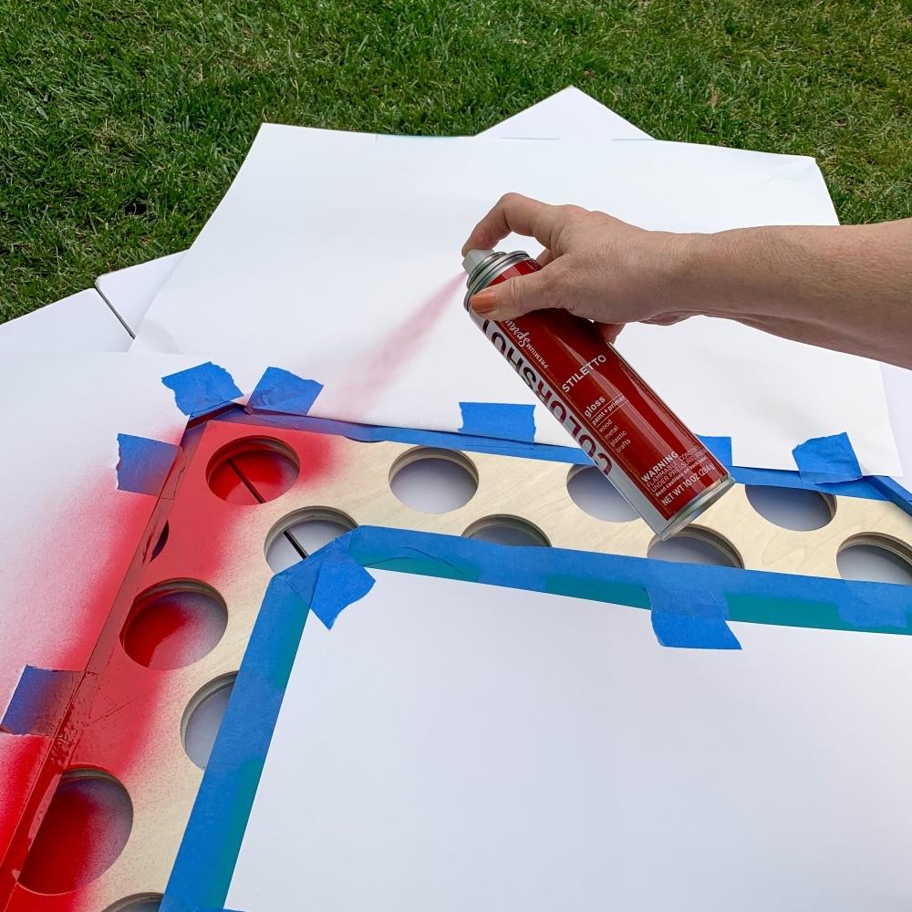 DIY Connect Four Backyard Game