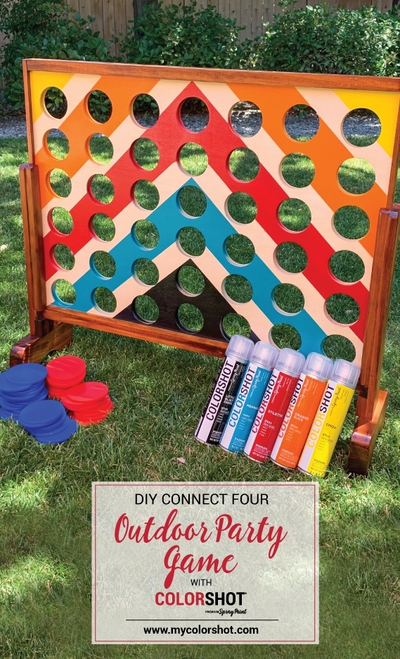 Backyard Connect Four Game