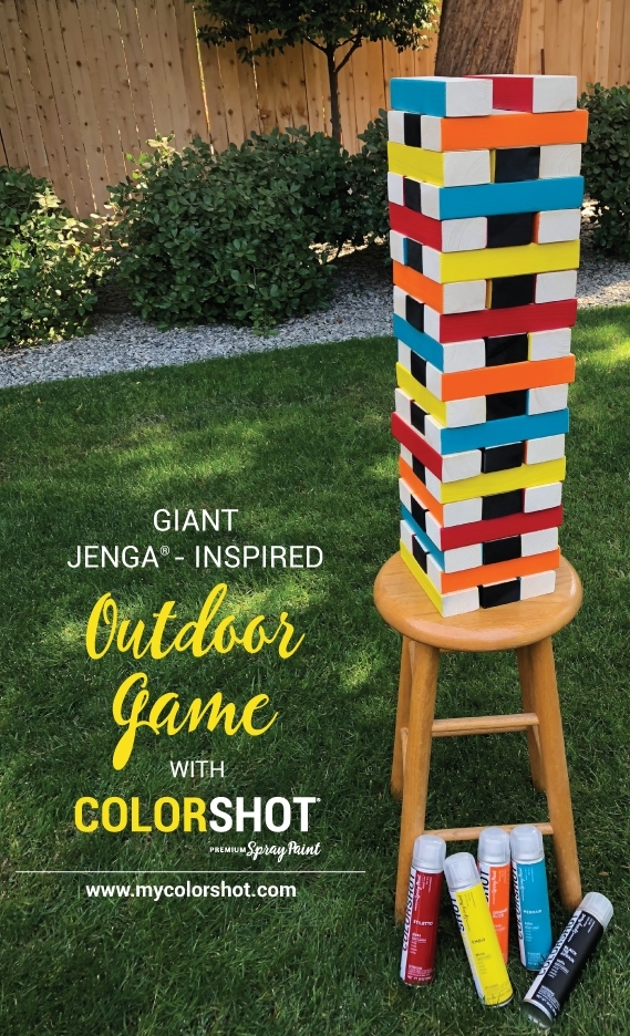 Outdoor Party Jenga Game COLORSHOT