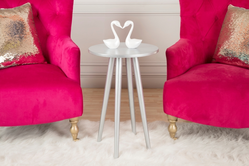 Silver Accent Table DIY