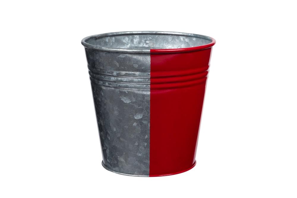 Metal bucket after