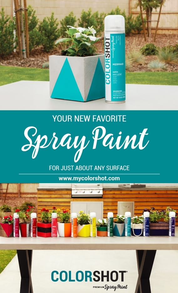 Spray paint concrete with COLORSHOT