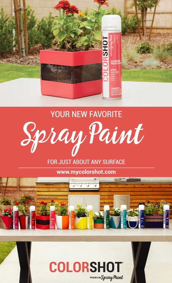 Spray paint glass with COLORSHOT