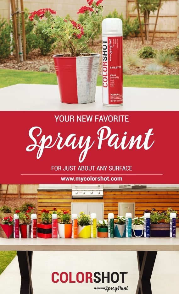 Spray paint metal with COLORSHOT