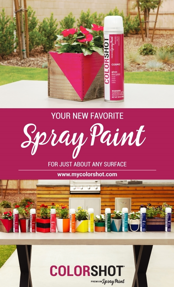 Spray paint wood with COLORSHOT