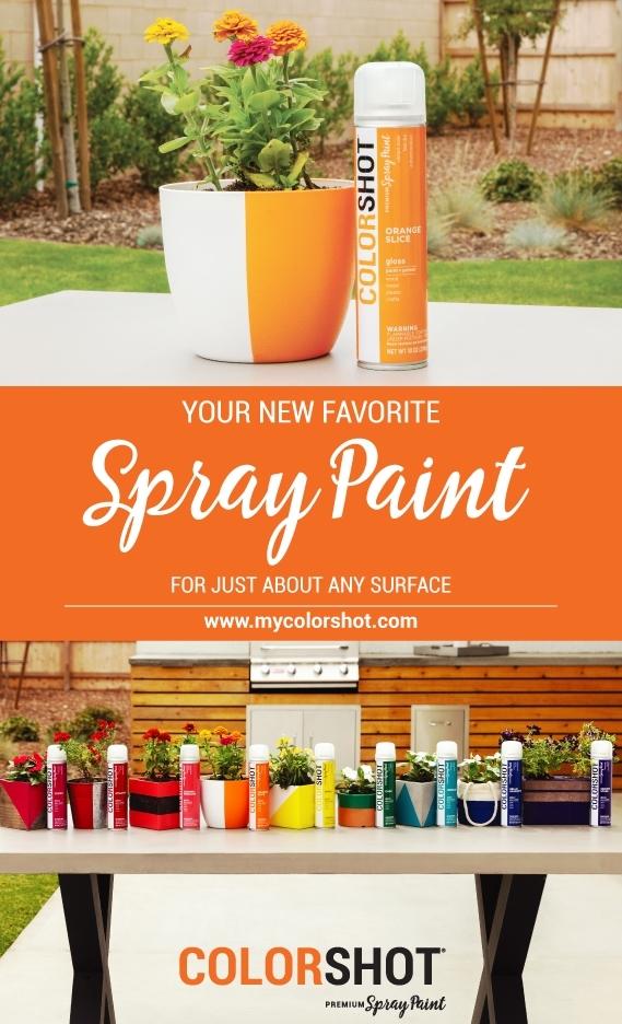 Spray plastic with COLORSHOT