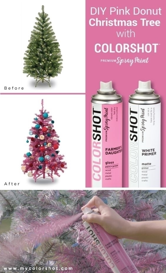 COLORSHOT Pink Donut Christmas Tree