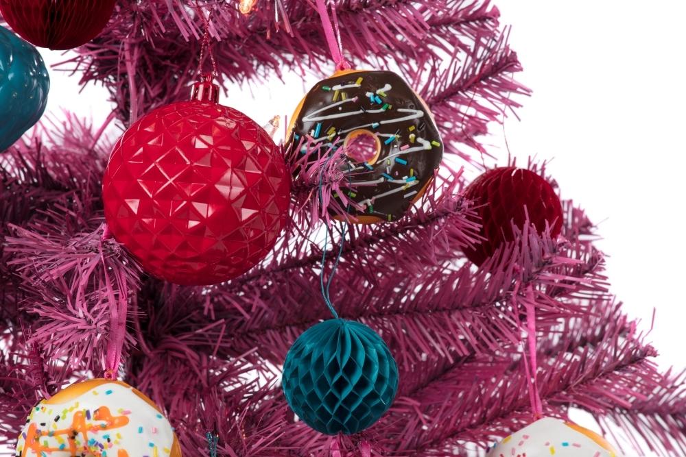 COLORSHOT Pink Donut Christmas Tree
