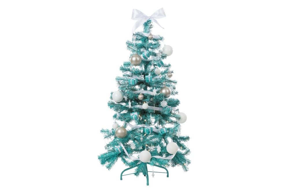 COLORSHOT Tiffany Blue Christmas Tree