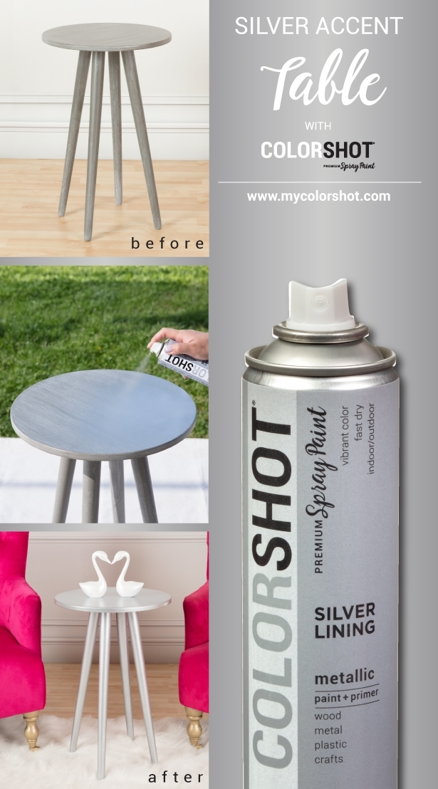 COLORSHOT Spray Painted Wood Table