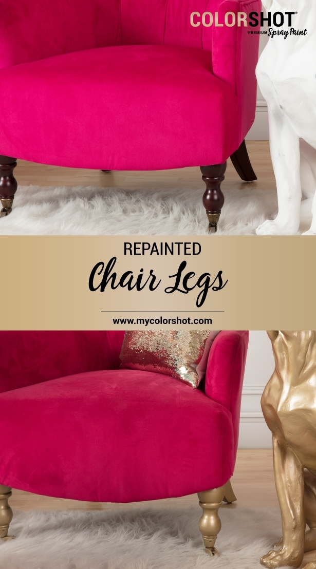 COLORSHOT Spray Painted Chair Legs