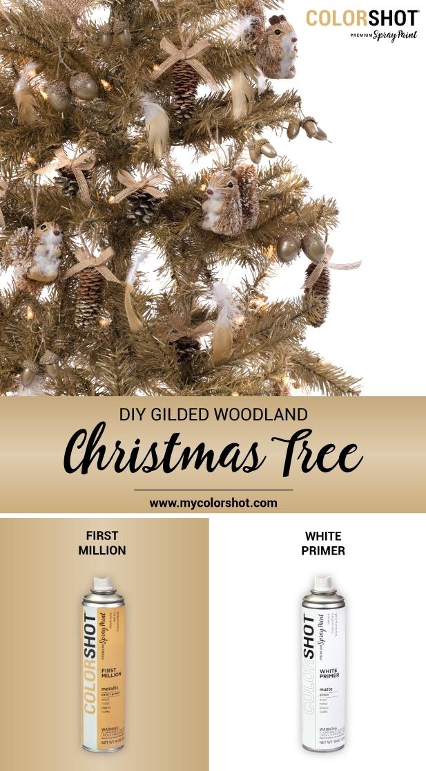 COLORSHOT Gilded Woodland Christmas Tree