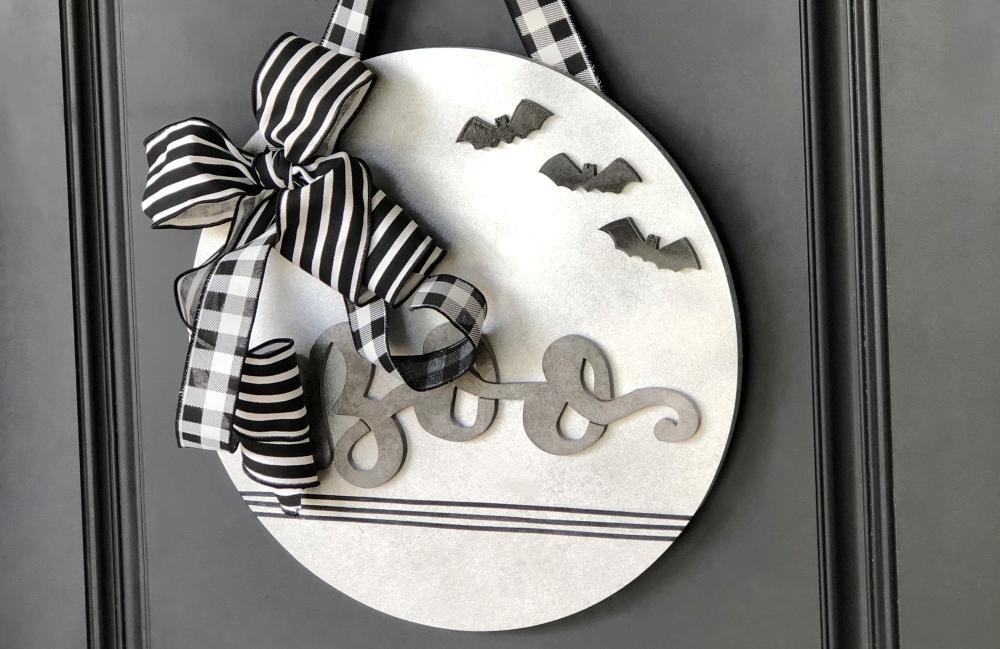 COLORSHOT Halloween Decor DIY: Boo Sign