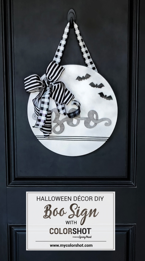 COLORSHOT Halloween Boo Sign
