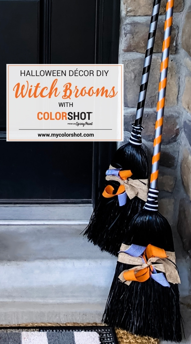COLORSHOT Halloween Witch Brooms