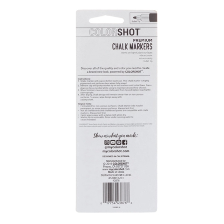 Picture of Premium Chalk Markers Marshmallow 2 Pack color