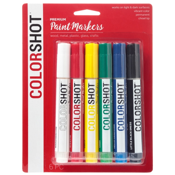 Picture of Premium Paint Markers Rainbow 6 Pack color