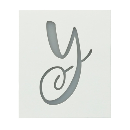 Picture of Premium Monogram Stencils Uppercase Cursive 26 Pack color