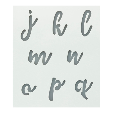 Picture of Premium Alphabet Stencils Lowercase Cursive 3 Pack color