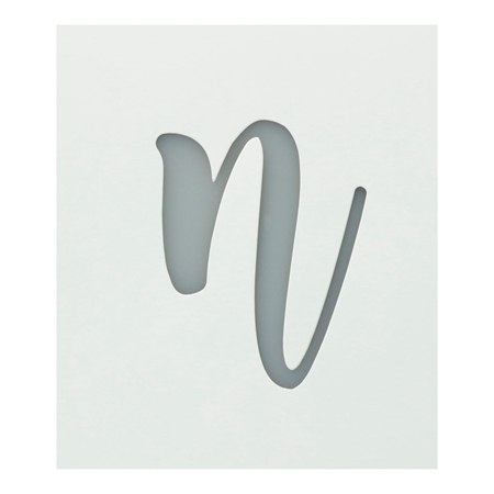 Picture of Premium Monogram Stencils Lowercase Cursive Alphabet 26 Pack color