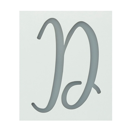 Picture of Premium Monogram Stencils Uppercase Script  26 Pack color