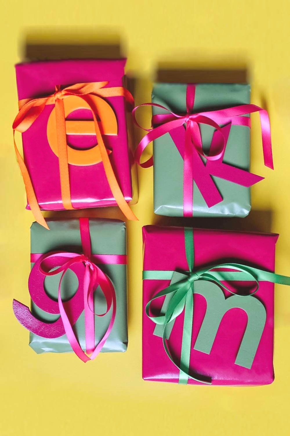 COLORSHOT Monogram Custom Gift Wrap