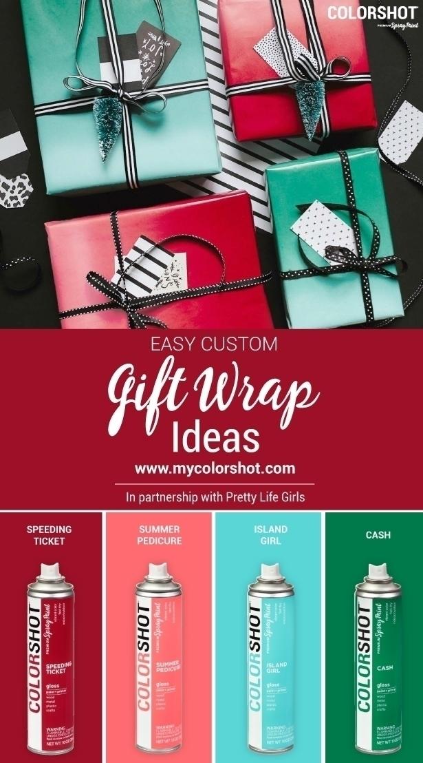 COLORSHOT Custom Ombre Gift Wrap