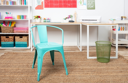 Picture of Craft Room Decluttering: Painted Metal Chair color