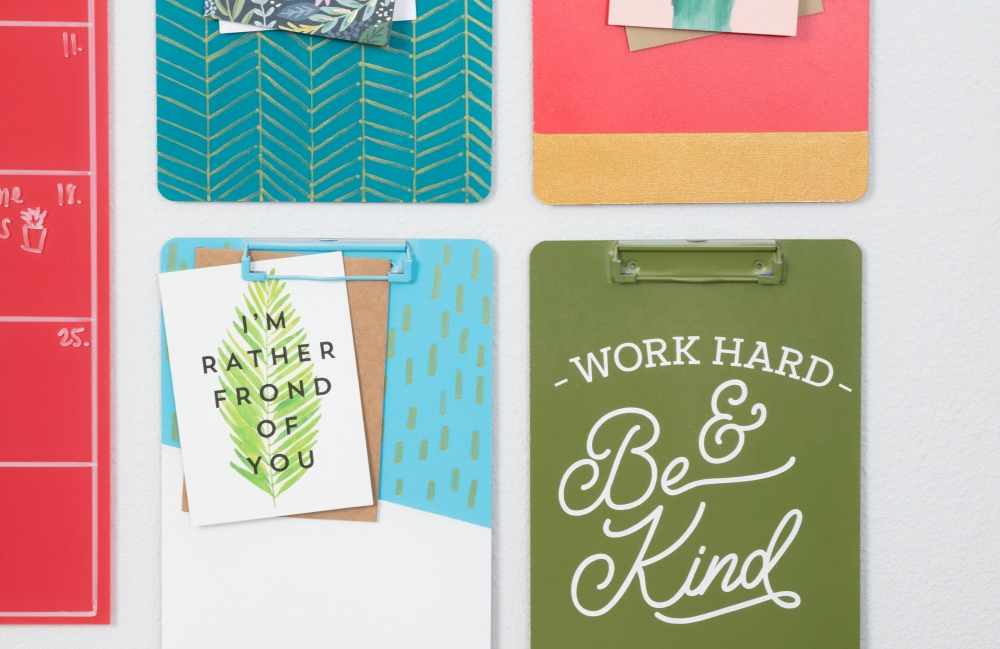 COLORSHOT Craft Room Decluttering: Clipboard Wall Art