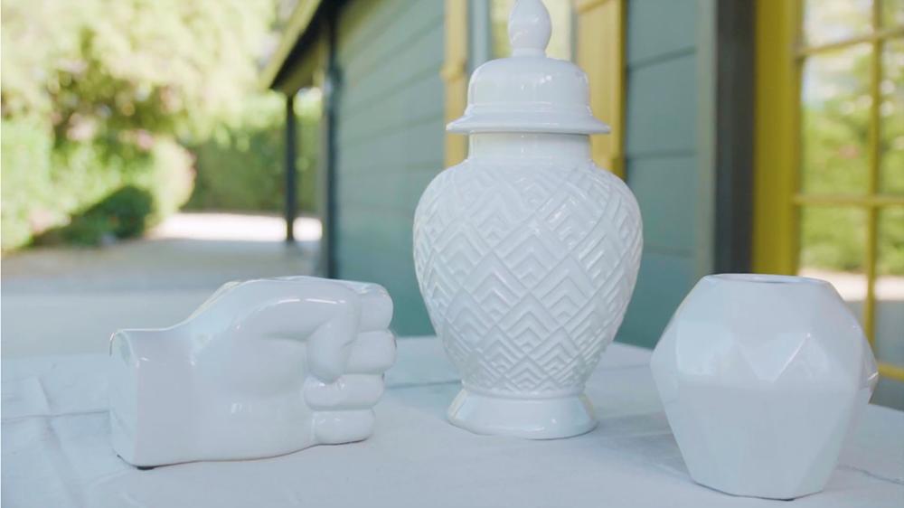 COLORSHOT Spray Paint - unpainted ceramic kitchen items