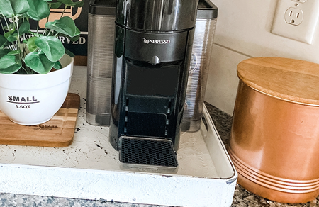 Picture of Rustic Farmhouse Coffee Station Makeover: Coffee Canister color