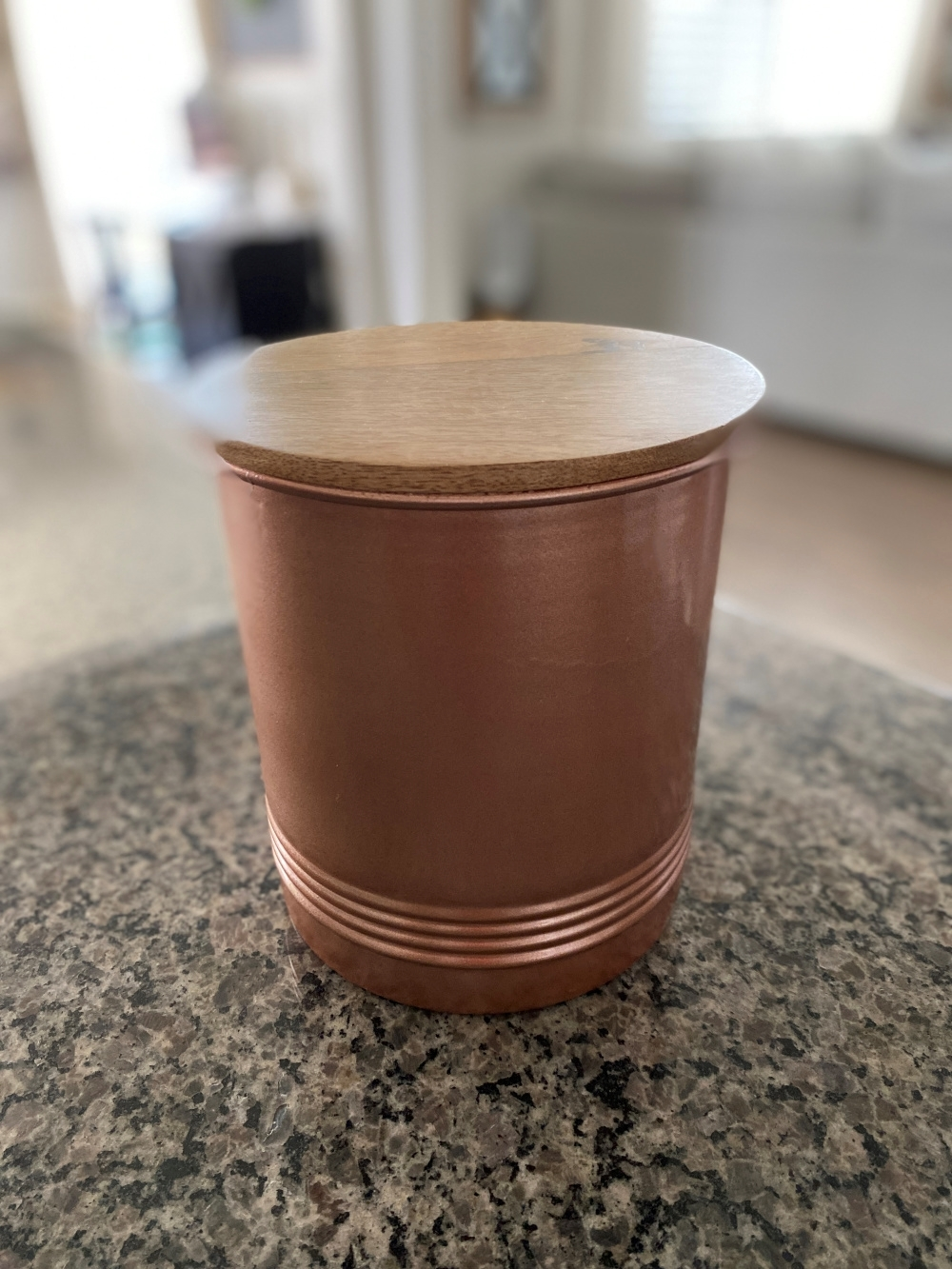 COLORSHOT Coffee Station Makeover: Coffee Canister - before