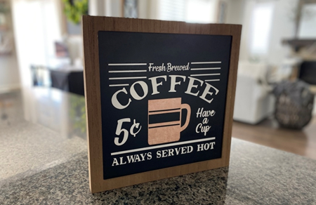 Picture of Rustic Farmhouse Coffee Station Makeover: Stenciled Coffee Sign color