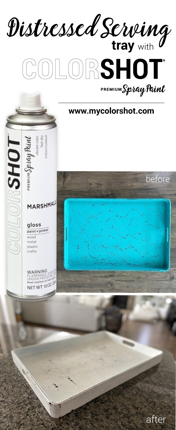 COLORSHOT Distressed Serving Tray