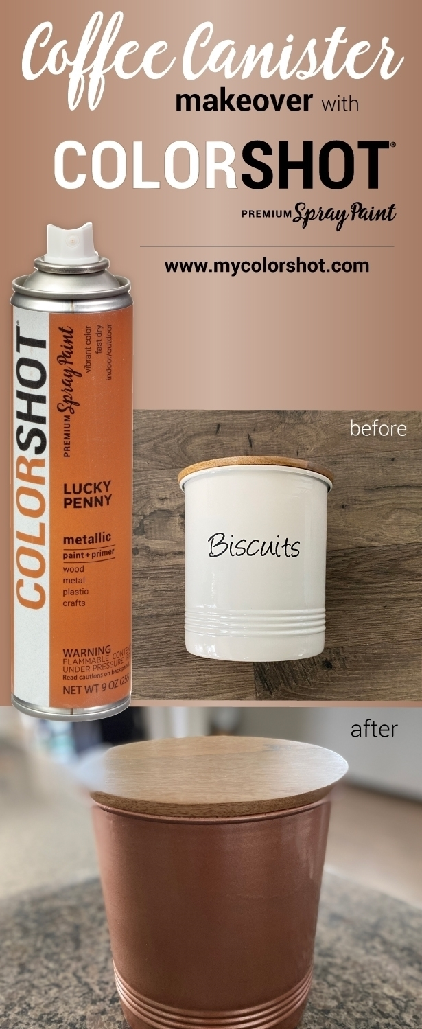 COLORSHOT Coffee Canister Makeover