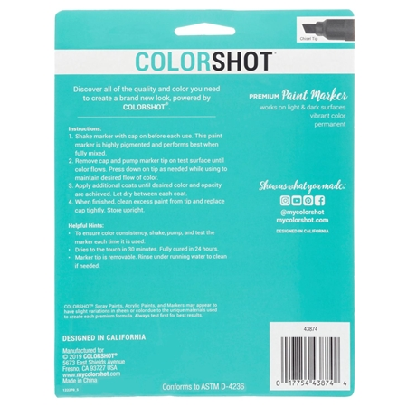 Picture of Premium Paint Markers Bright 6 Pack color