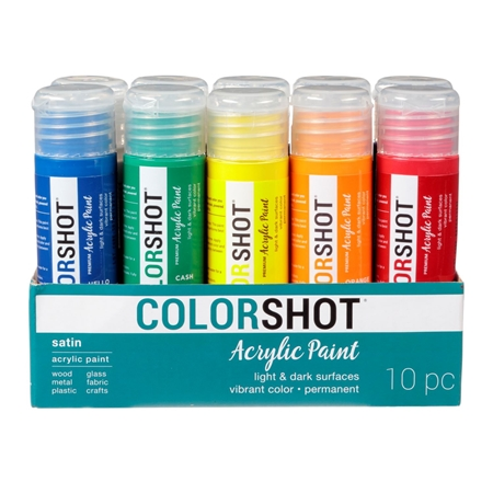 Picture of Premium Acrylic Paint Rainbow Satin 10 Pack color