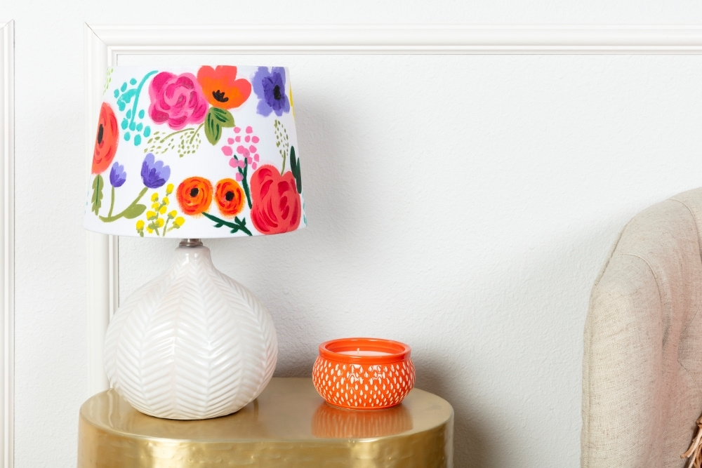 COLORSHOT Floral Lampshade DIY