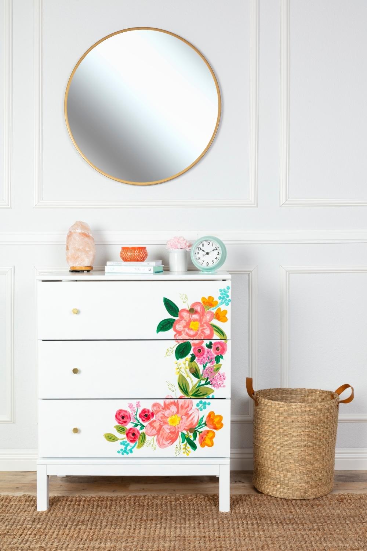 COLORSHOT Floral Dresser DIY
