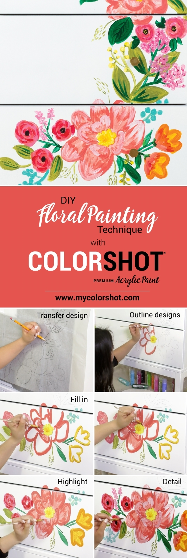 COLORSHOT Statement Pieces Floral Painting Technique