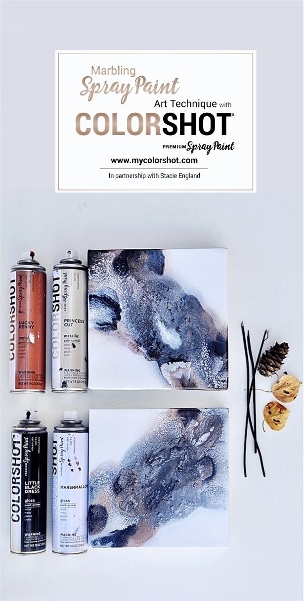 COLORSHOT Marbling Spray Paint Art Technique