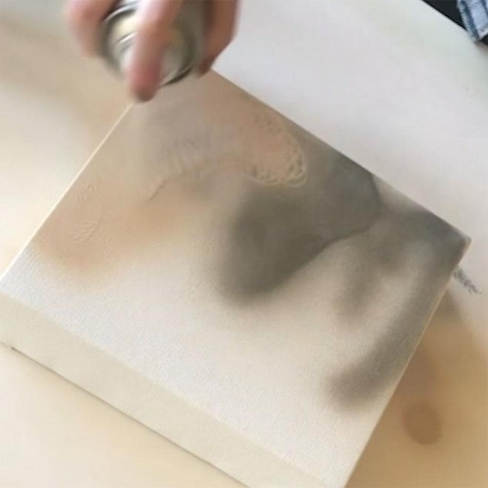 COLORSHOT Marbling Spray Paint Art Technique - spray base colors