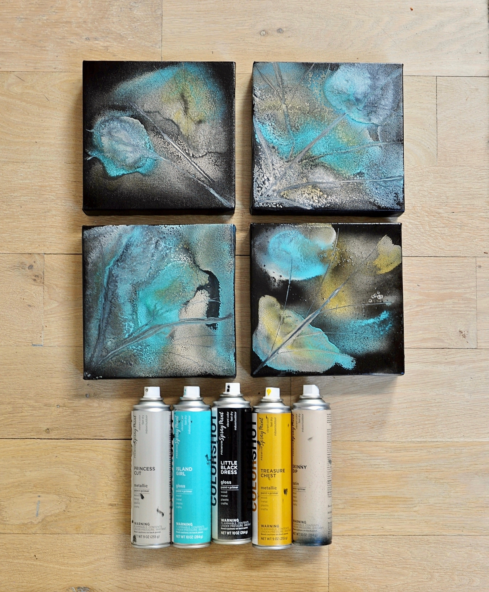 COLORSHOT Marbling Spray Paint Art Technique