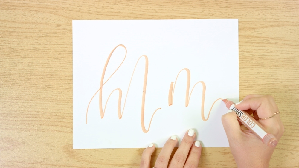 COLORSHOT Modern Calligraphy Tutorial with Paint Markers
