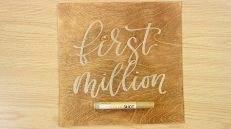 First Million COLORSHOT Paint Marker Calligraphy