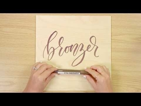 Bronzer COLORSHOT Paint Marker Calligraphy
